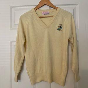 Vintage Preppy V Neck Sweater